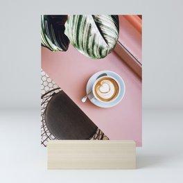 pink latte Mini Art Print