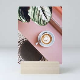 pink latte Mini Art Print