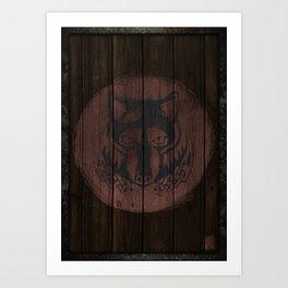 Wolf Shield Art Print