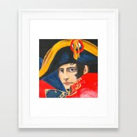 napoleon Framed Art Prints featuring NAPOLEON by BonOrand