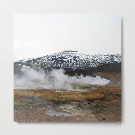 Geothermal Activity Metal Print