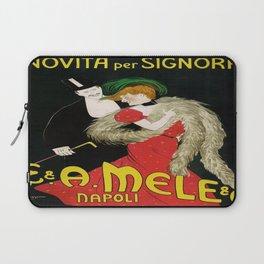 Vintage poster - Novita per Signora Laptop Sleeve