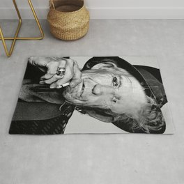 Reproduction KeithRichards Poster, Smoking, The Rolling Stones, Home Wall Art Rug