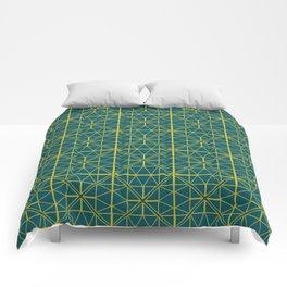 Emerald Green Triangles Pattern Comforters
