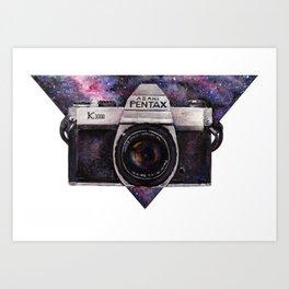 Pentax K1000 (Purple Nebula) Art Print