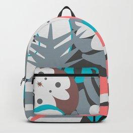 Flamingo, pineapples, flowers Backpack