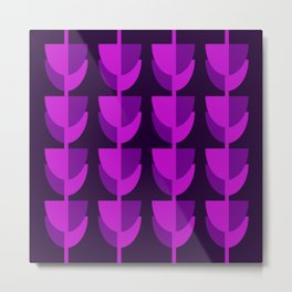 Tulips In Spring Time - Purple Magenta & Ultra Violet - Tulips in Springtime series Metal Print