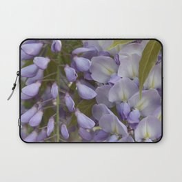 Wisteria Petals and Leaves Laptop Sleeve