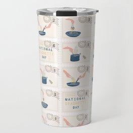 National Spaghetti Day Postage Stamps Travel Mug