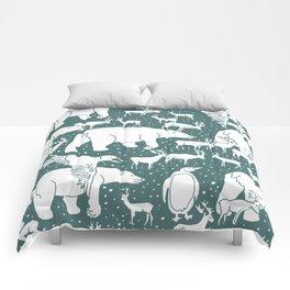 Polar gathering (emerald) Comforters