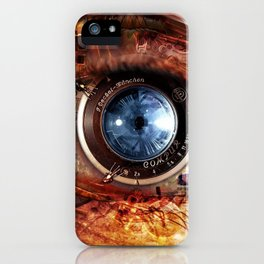 Steampunk camera's eye. iPhone Case