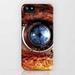 Steampunk camera's eye. iPhone Case