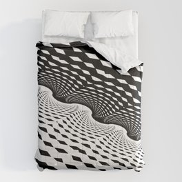 Black & White Fractal Art Print / Home Decor Comforters