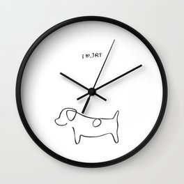 Abstract Jack Russell Terrier Dog Line Drawing Wall Clock