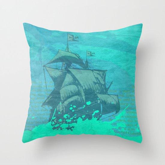 Sea Route Throw Pillow