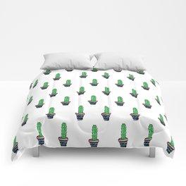 PATTERN II Geometric Cacti Comforters