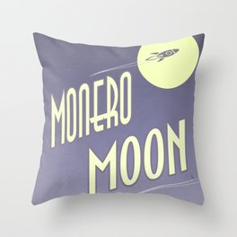 Monero Moon Throw Pillow