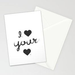 i heart your heart Stationery Cards