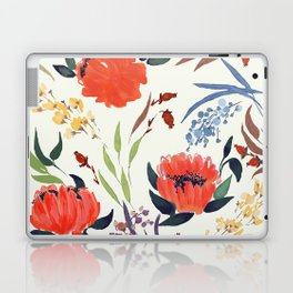 floral pattern hand draw watercolor Laptop & iPad Skin