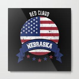 Red Cloud Nebraska Metal Print