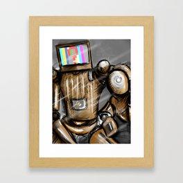 CONFUSED ROBO Framed Art Print