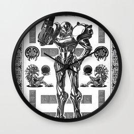 Metroid - Samus Aran Line Art Vector Character Poster Wall Clock