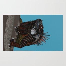 iguana blue Rug