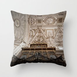 Organ and Ceiling (Cordoba Cathedral) Throw Pillow