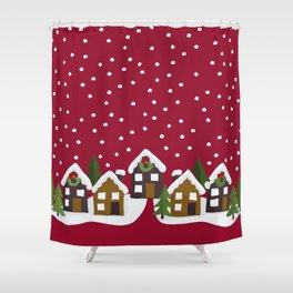 Winter idyll Shower Curtain