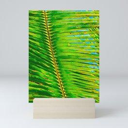 Coconut Frond in Green Aloha Mini Art Print