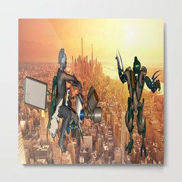 Defense of Planet Earth Metal Print