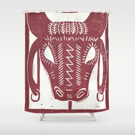 Strength (White) Shower Curtain