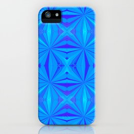 231 - Abstract blue pattern iPhone Case