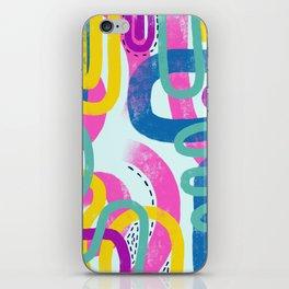Fun bright abstract art iPhone Skin