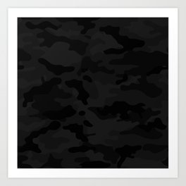 Midnight Camo Art Print
