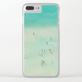 beach summer waves Clear iPhone Case