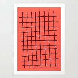 Flashy grid Art Print