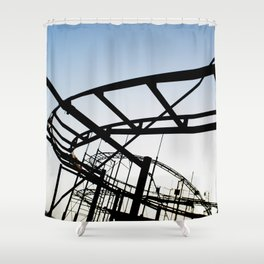 Abandoned Coaster Shower Curtain