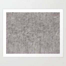 Decorative reed pattern brown Art Print