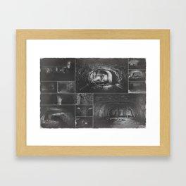 Underground factory collage Framed Art Print