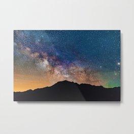Mountain Galaxy (Color) Metal Print