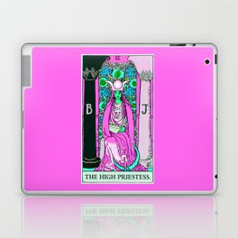2. The High Priestess- Neon Dreams Tarot Laptop & iPad Skin