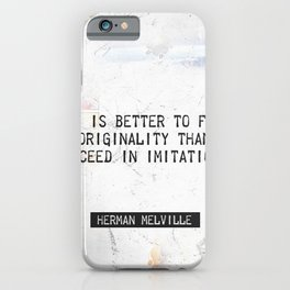 Herman Melville quote 2 iPhone Case