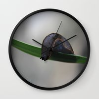 brave Wall Clocks featuring Brave by Dymond Amador