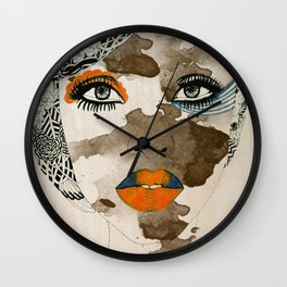 Beautiful Flaws Wood Print Wall Clock