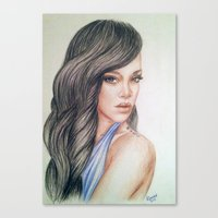 rihanna Canvas Prints featuring RIHANNA by Hileeery