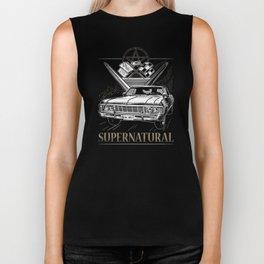 Supernatural Impala Black Biker Tank