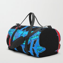BABY BLUE MOTHS WITH  THORN CANES BLACK ABSTRACT Duffle Bag