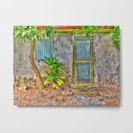 Yellow Screen Door, St. Croix, U.S. Virgin Islands Metal Print