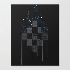 Space Flow Between Buildings Canvas Print